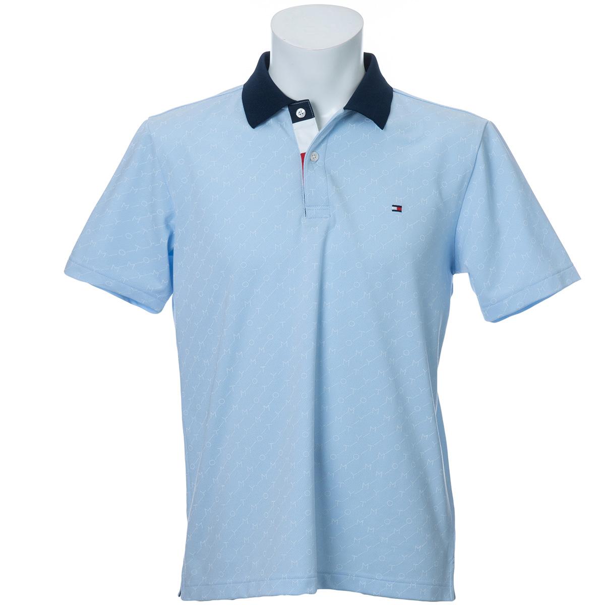 シャンブレー メッシュ 半袖ポロシャツ