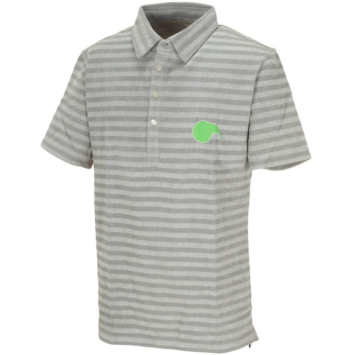 [2020年春夏モデル] キウイ アンド コー 今治パイル ボーダー半袖ポロシャツ グレー メンズ ゴルフウェア