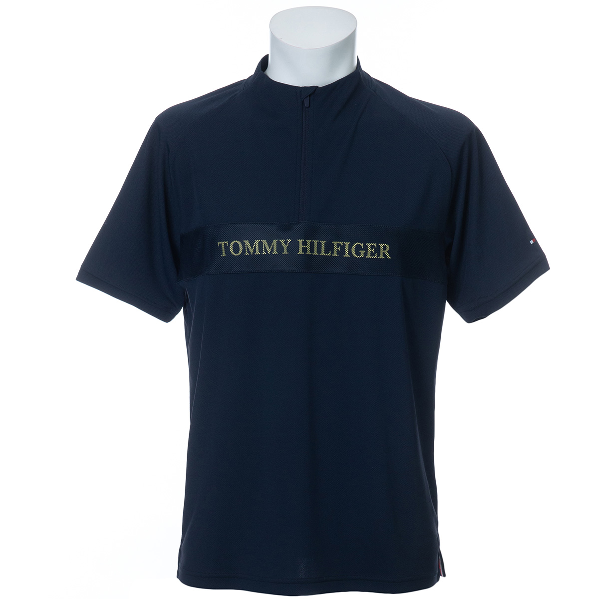 TH ロゴ ハーフジップ半袖シャツ