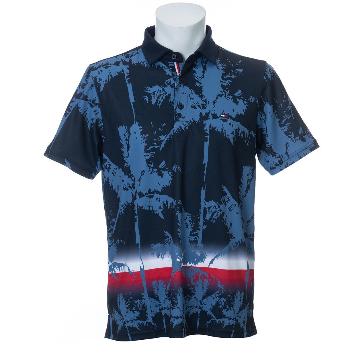 PALM TREE プリント 半袖ポロシャツ