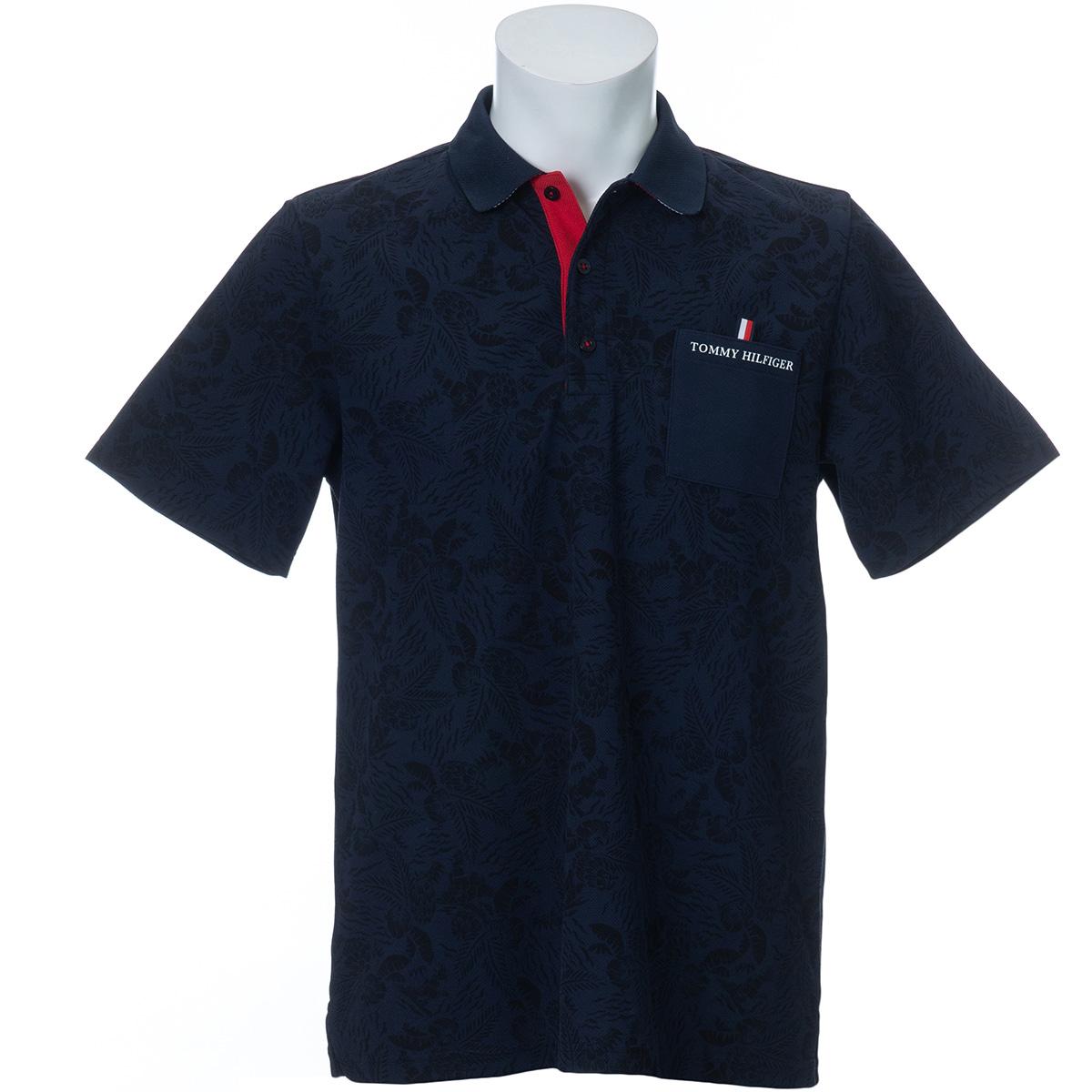 ボタニカルプリンテッド 半袖ポロシャツ