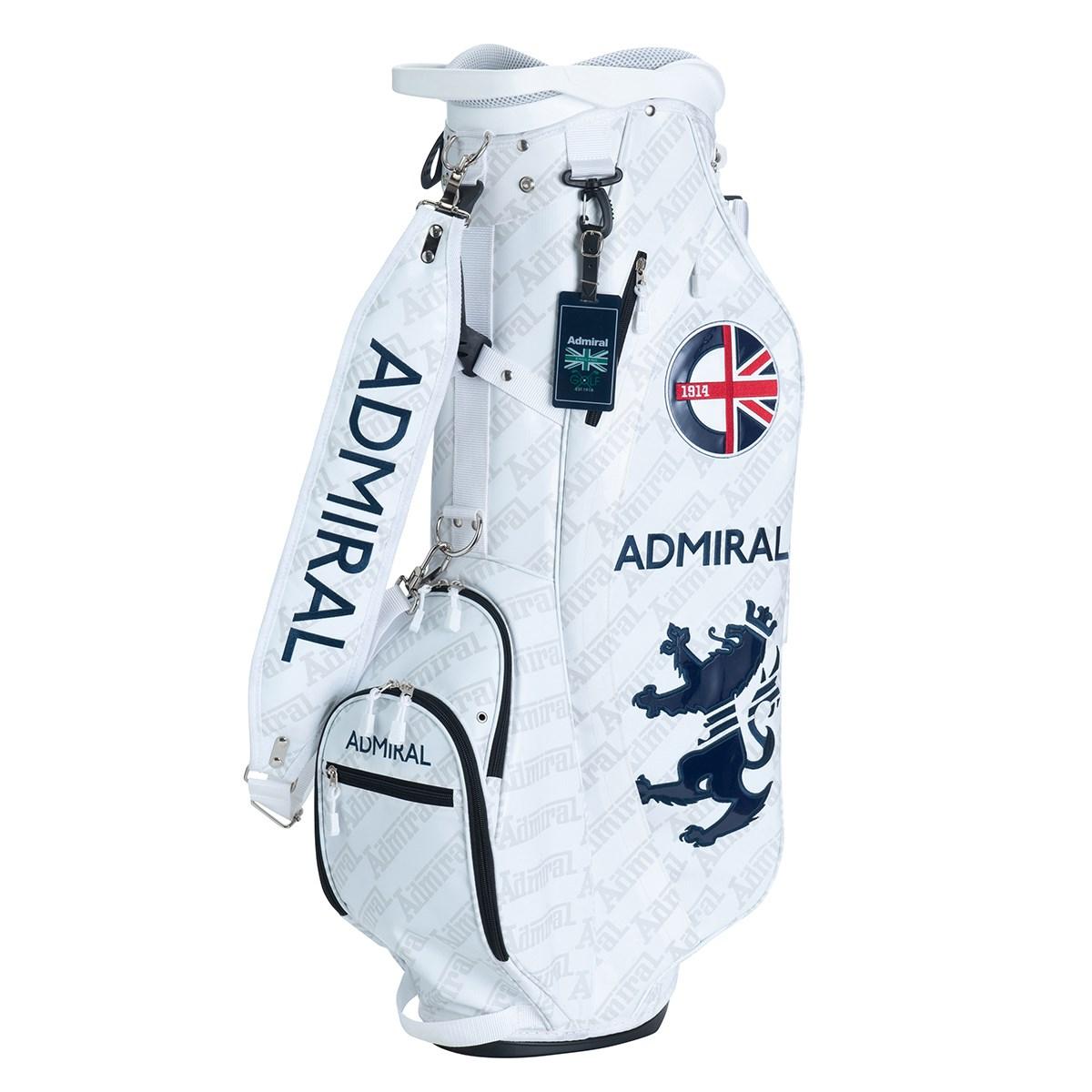 アドミラル Admiral レーシングロゴ スタンドキャディバッグ ホワイト 00