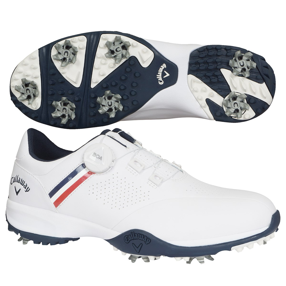 キャロウェイゴルフ Callaway Golf AEROSPORT BOA 20 ゴルフシューズ 26.5cm ホワイト/ネイビー 031