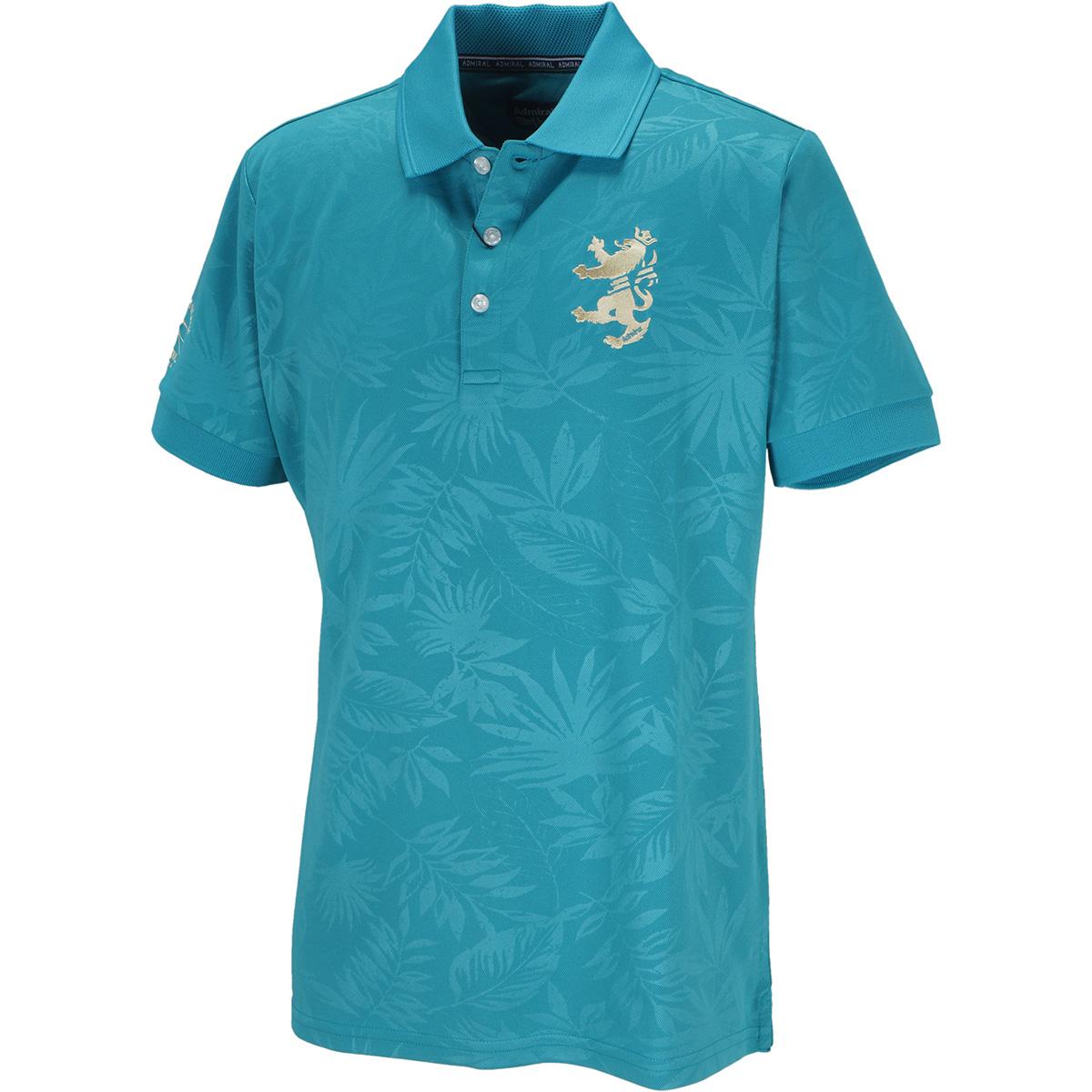 リーフエンボス 半袖ポロシャツ