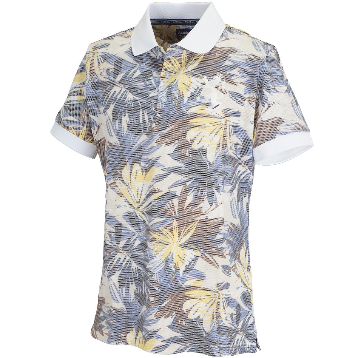 ボタニカルプリント 半袖ポロシャツ
