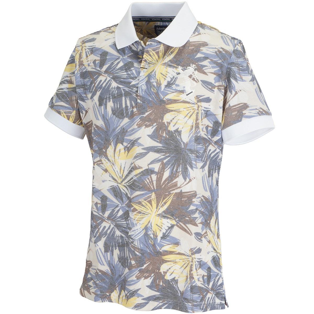 アドミラル ボタニカルプリント 半袖ポロシャツ