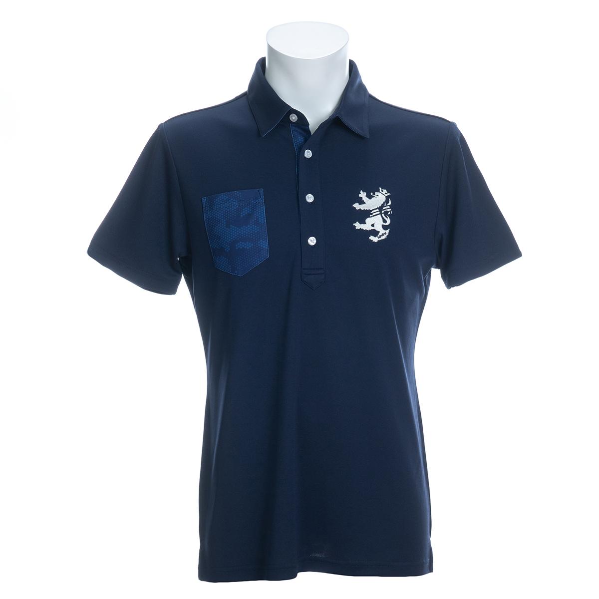 パーツカモプリント 半袖ポロシャツ