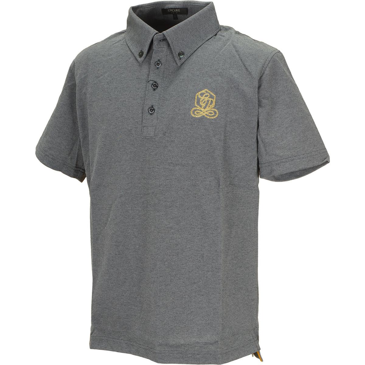 クールマックス 鹿の子 ボタンダウン半袖ポロシャツ