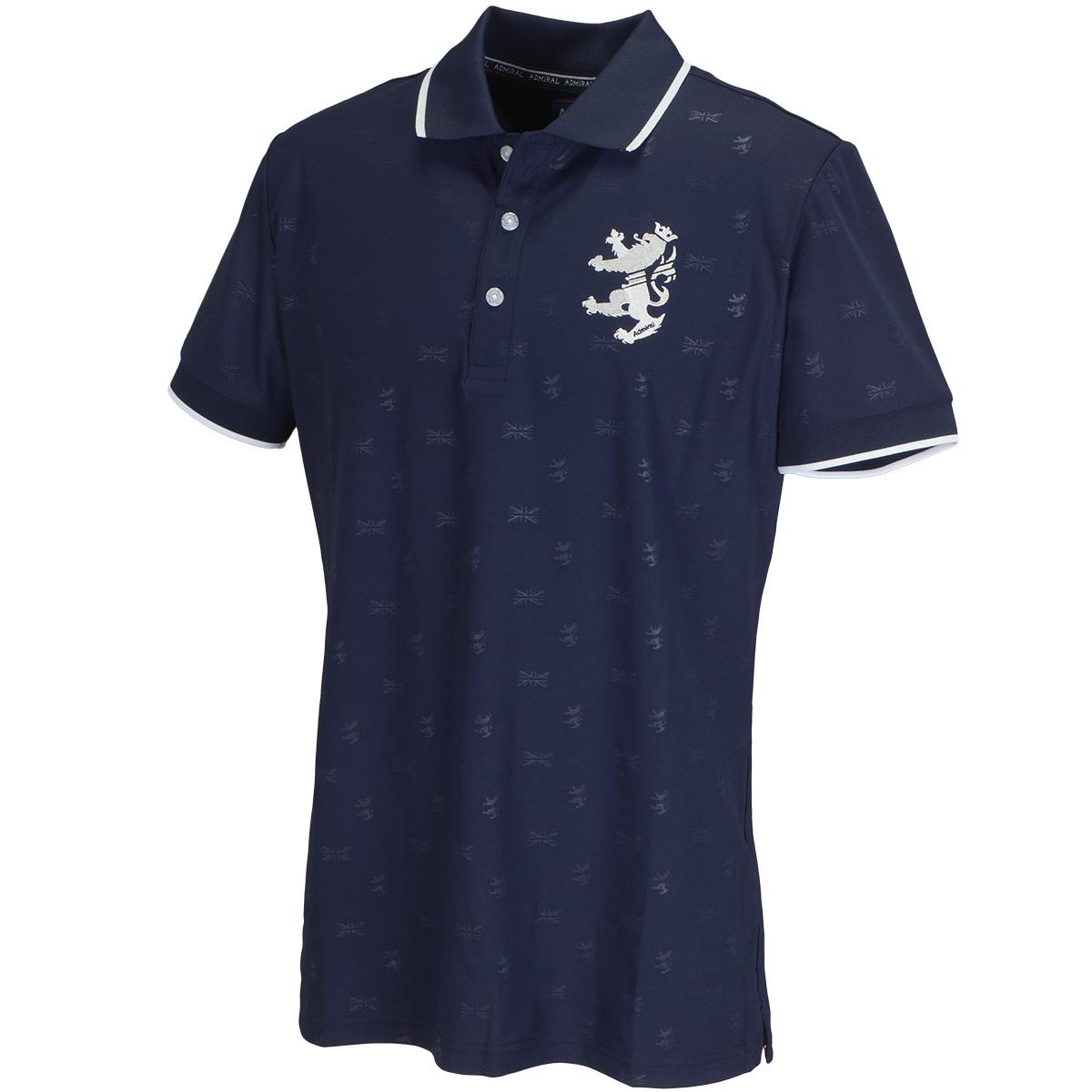 ランパントエンボス 半袖ポロシャツ