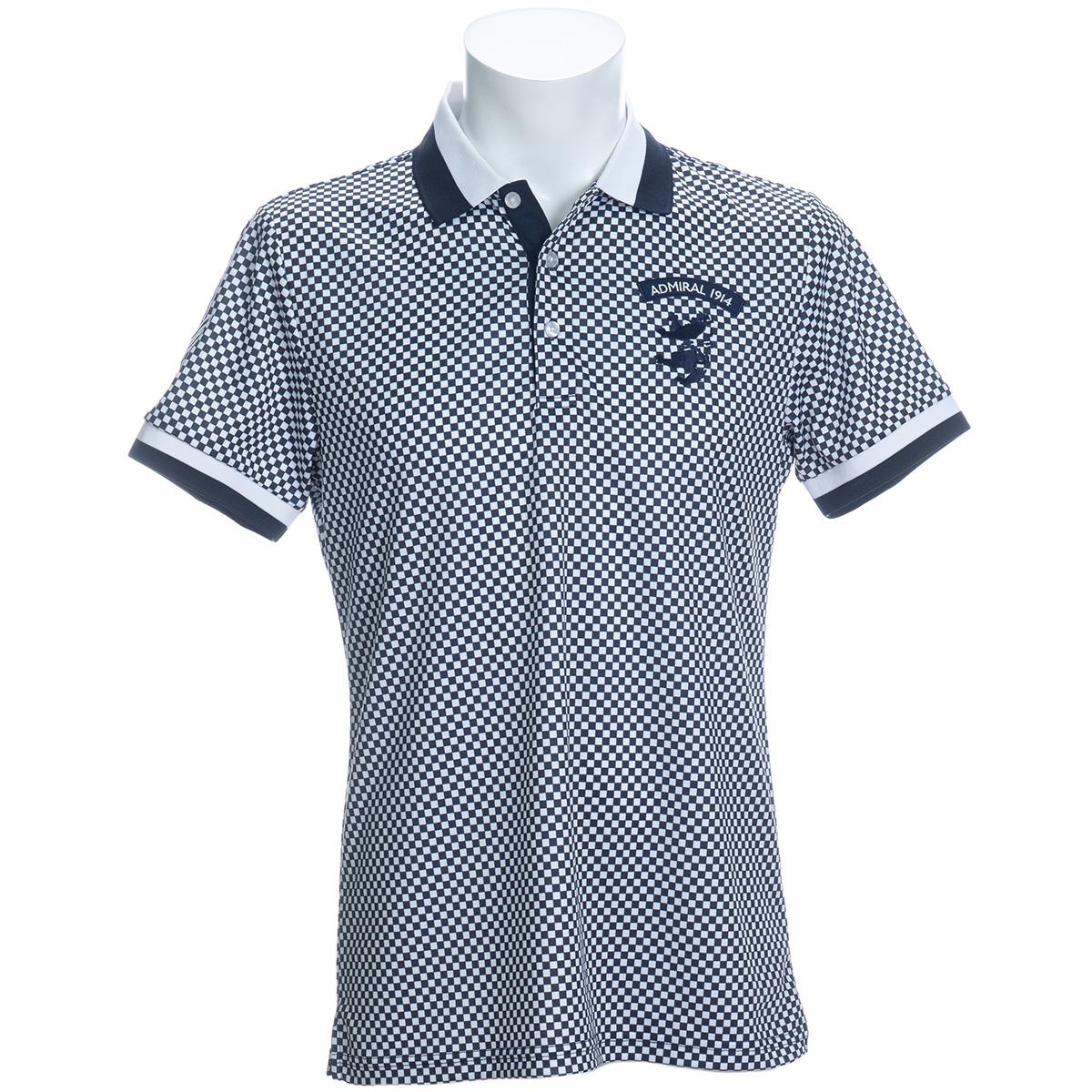 グランプリチェック 半袖ポロシャツ