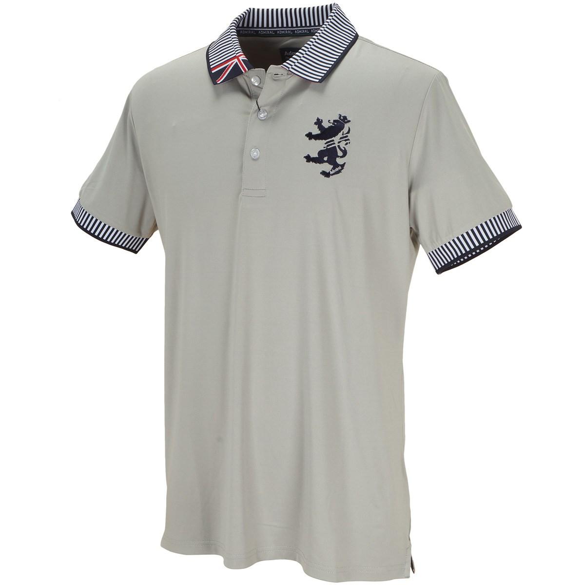 アドミラル ストレッチ 襟ストライプ 半袖ポロシャツ