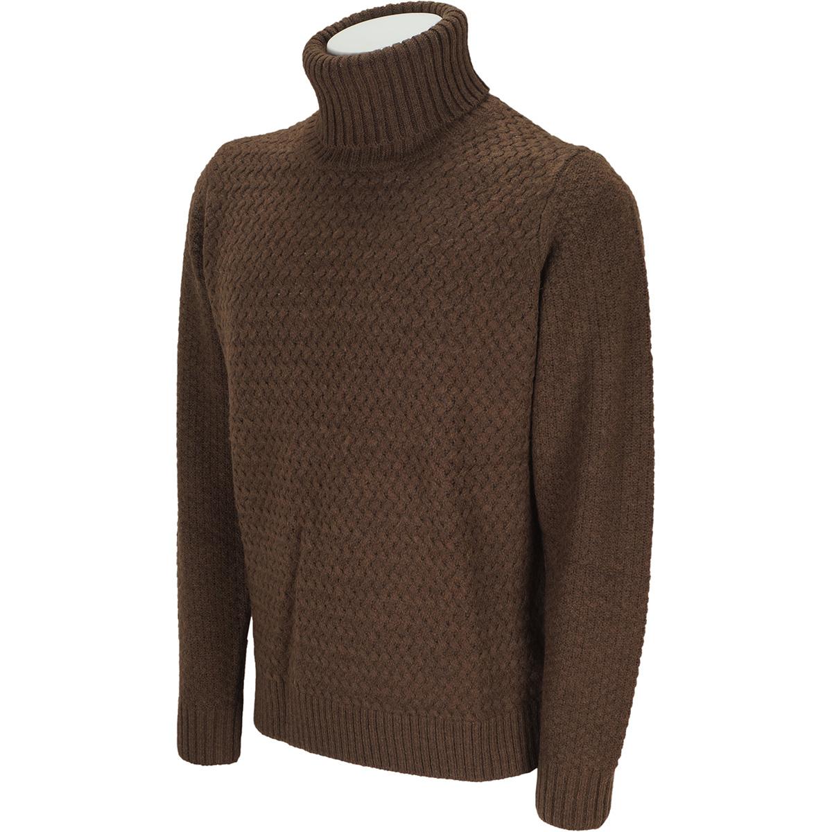 変わり編み タートルネックセーター