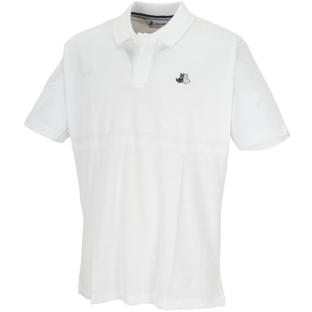 ブラック&ホワイト 半袖ポロシャツ