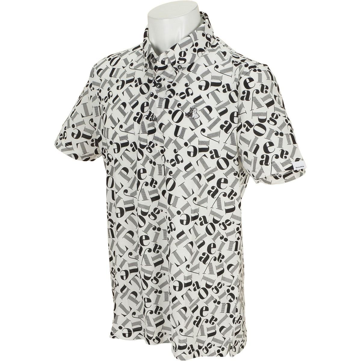 ブラック&ホワイト 半袖ボタンダウンポロシャツ