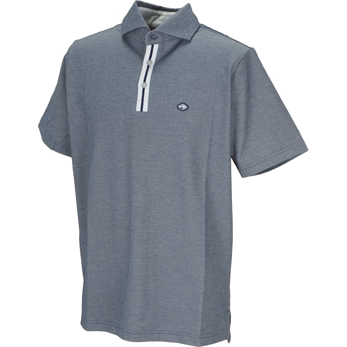 ワイドカラー 半袖ポロシャツ