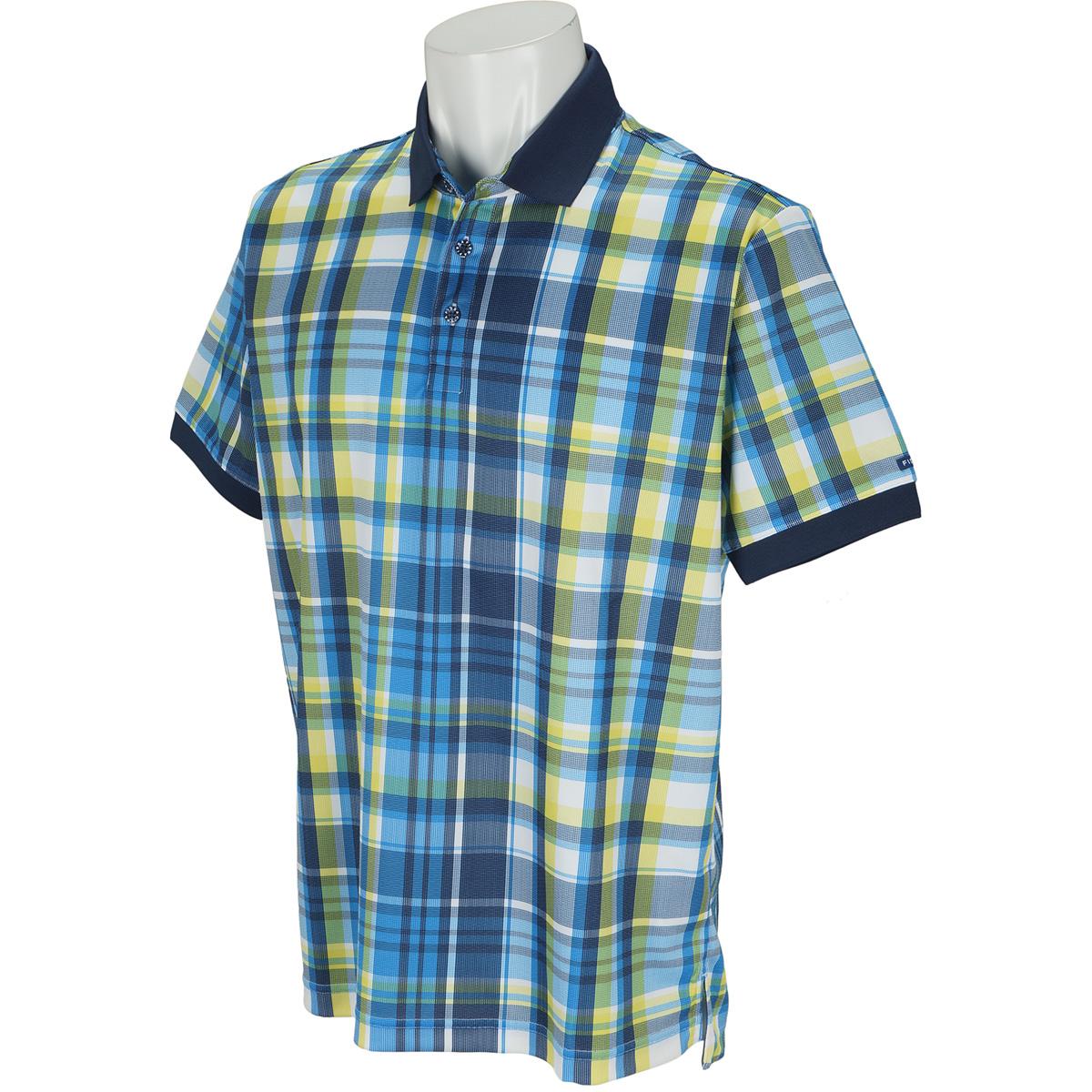 マドラスチェック 半袖ポロシャツ