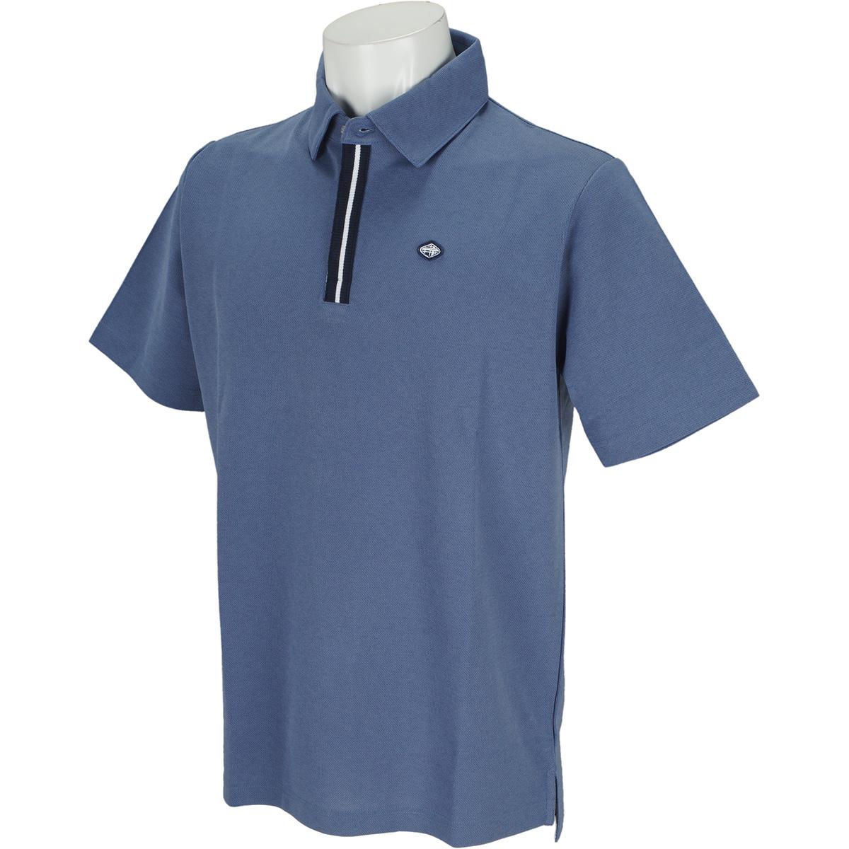 ラインリブ 半袖ポロシャツ
