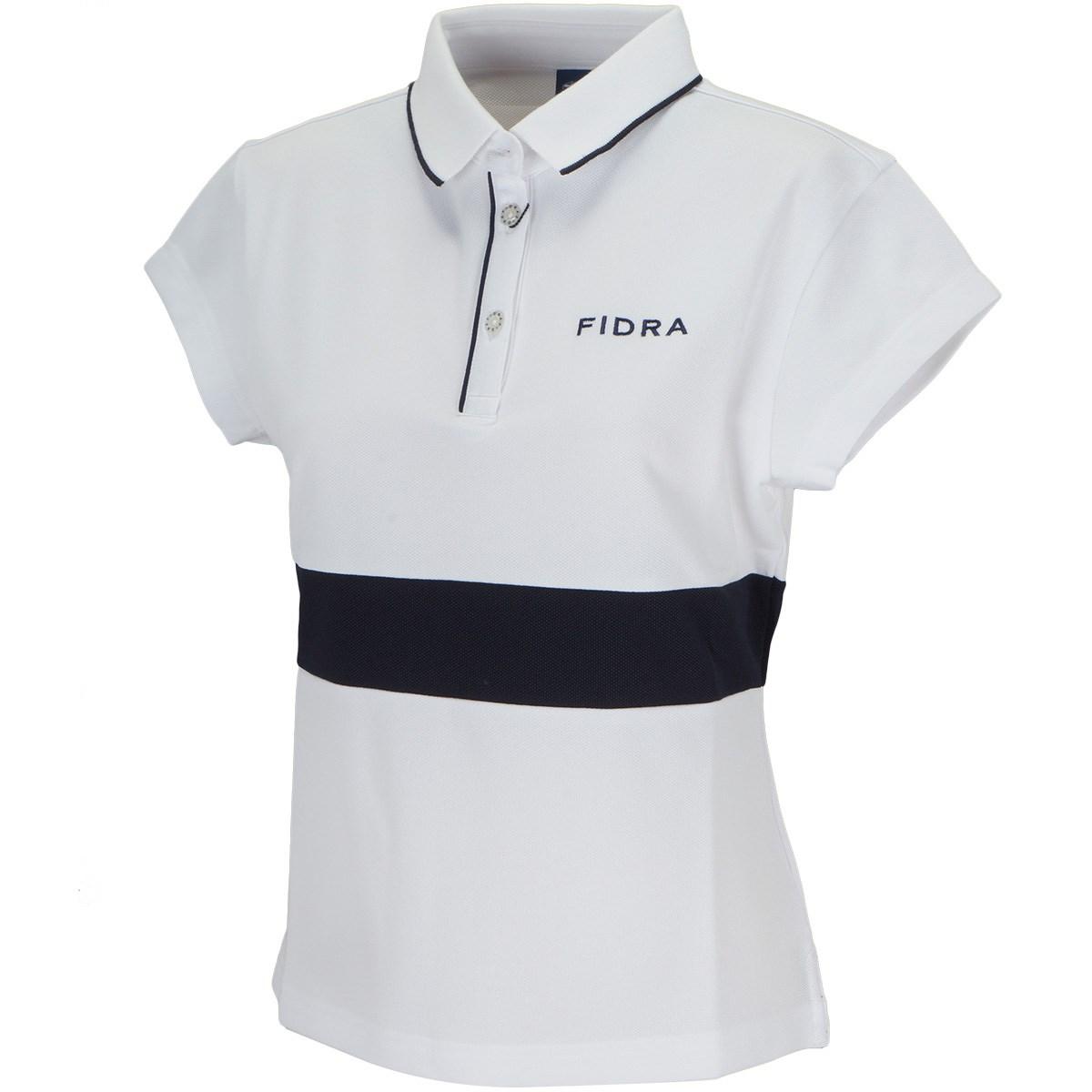 フィドラ FIDRA ボーダー 半袖ポロシャツ S ホワイト レディス