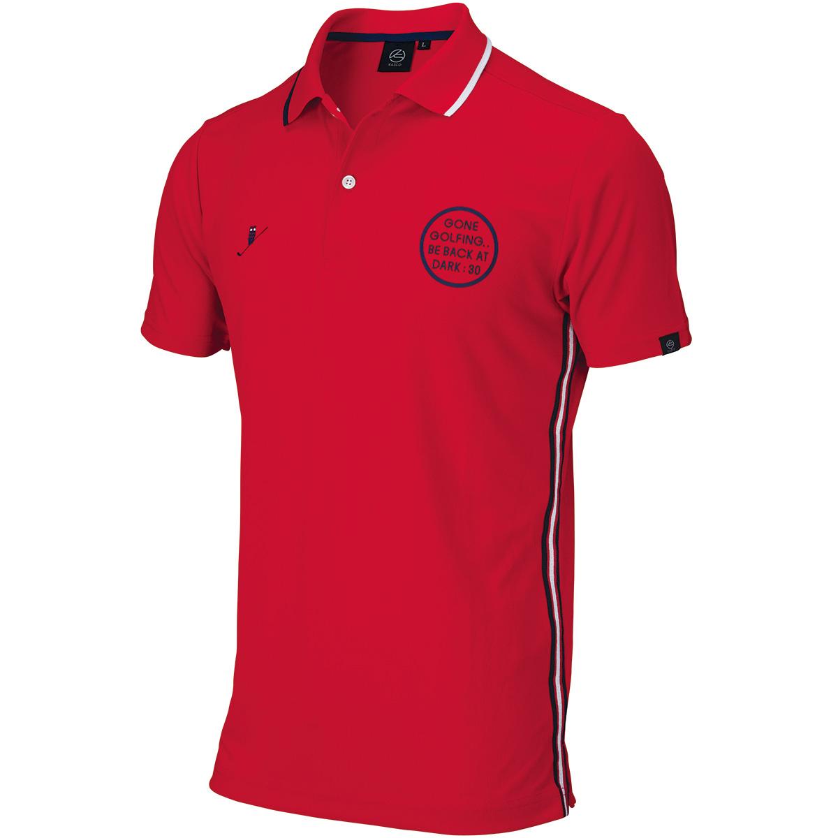 トリコロール 半袖ポロシャツ