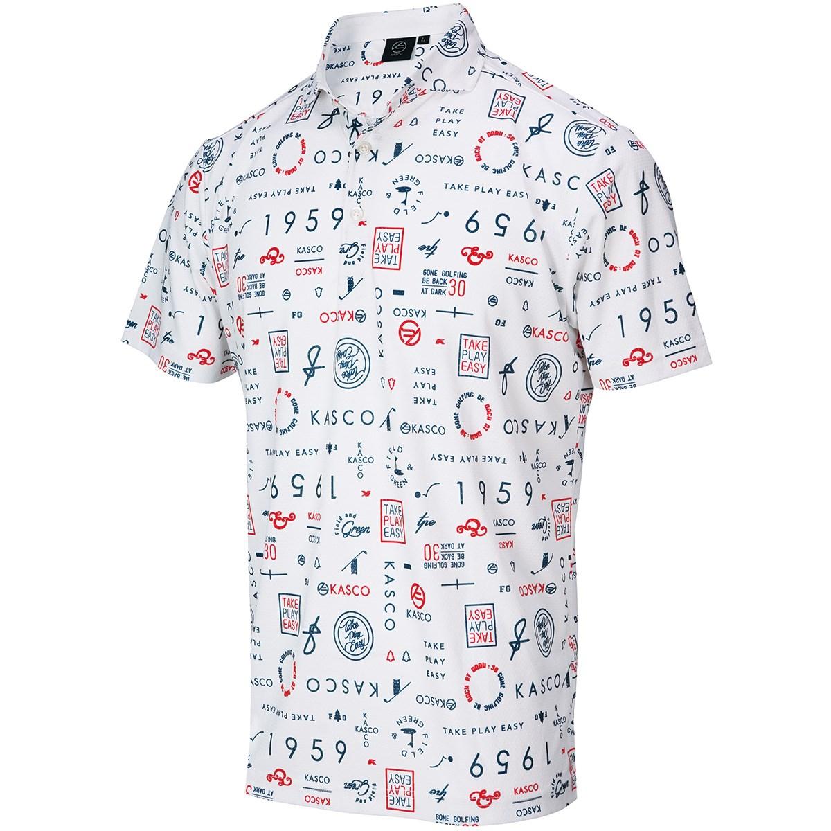 キャスコ KASCO ロゴタイポ 半袖ポロシャツ M ホワイト