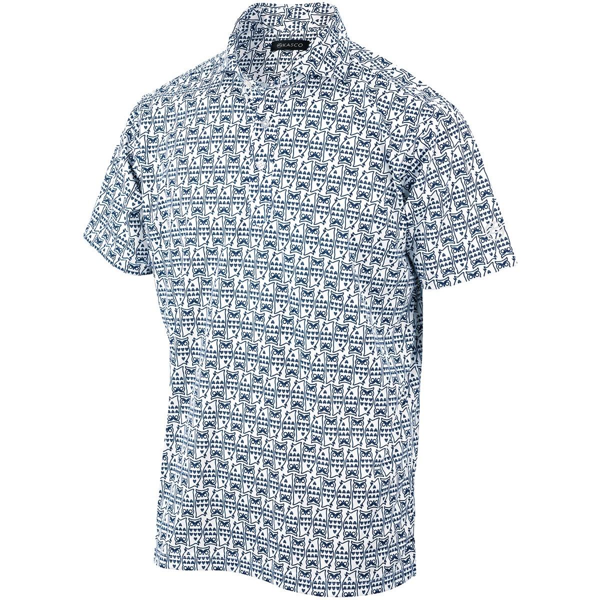 キャスコ(KASCO) フクロウ総柄プリント 半袖ポロシャツ