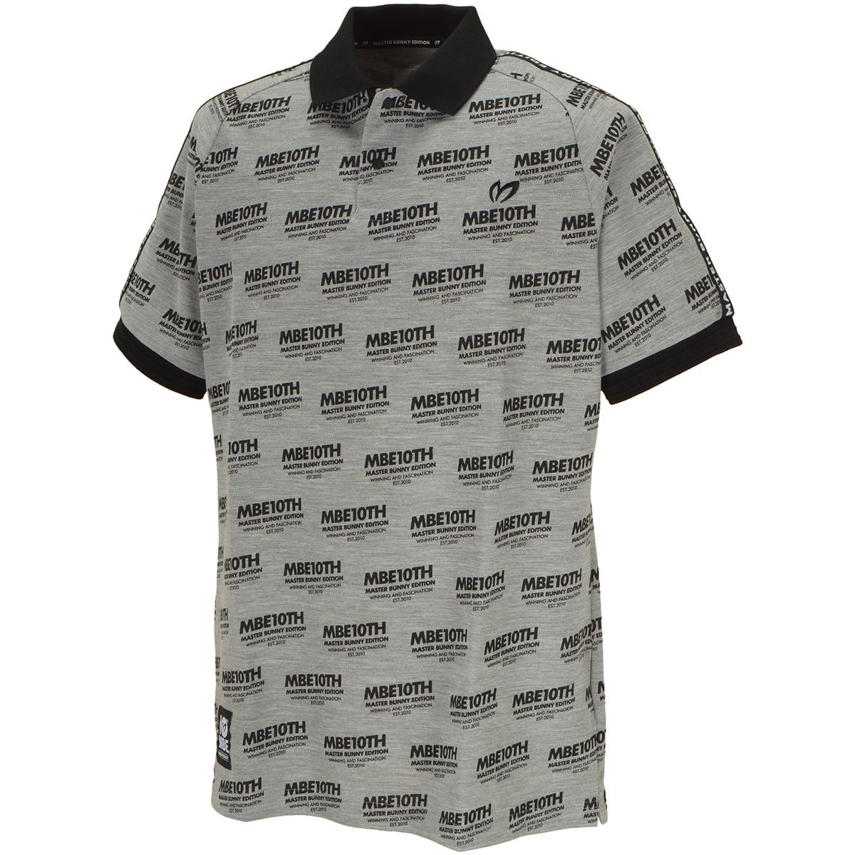 10thロゴプリント半袖ポロシャツ
