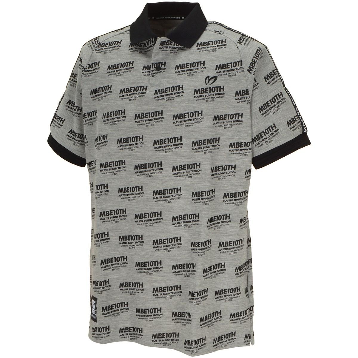 マスターバニーエディション 10thロゴプリント半袖ポロシャツ