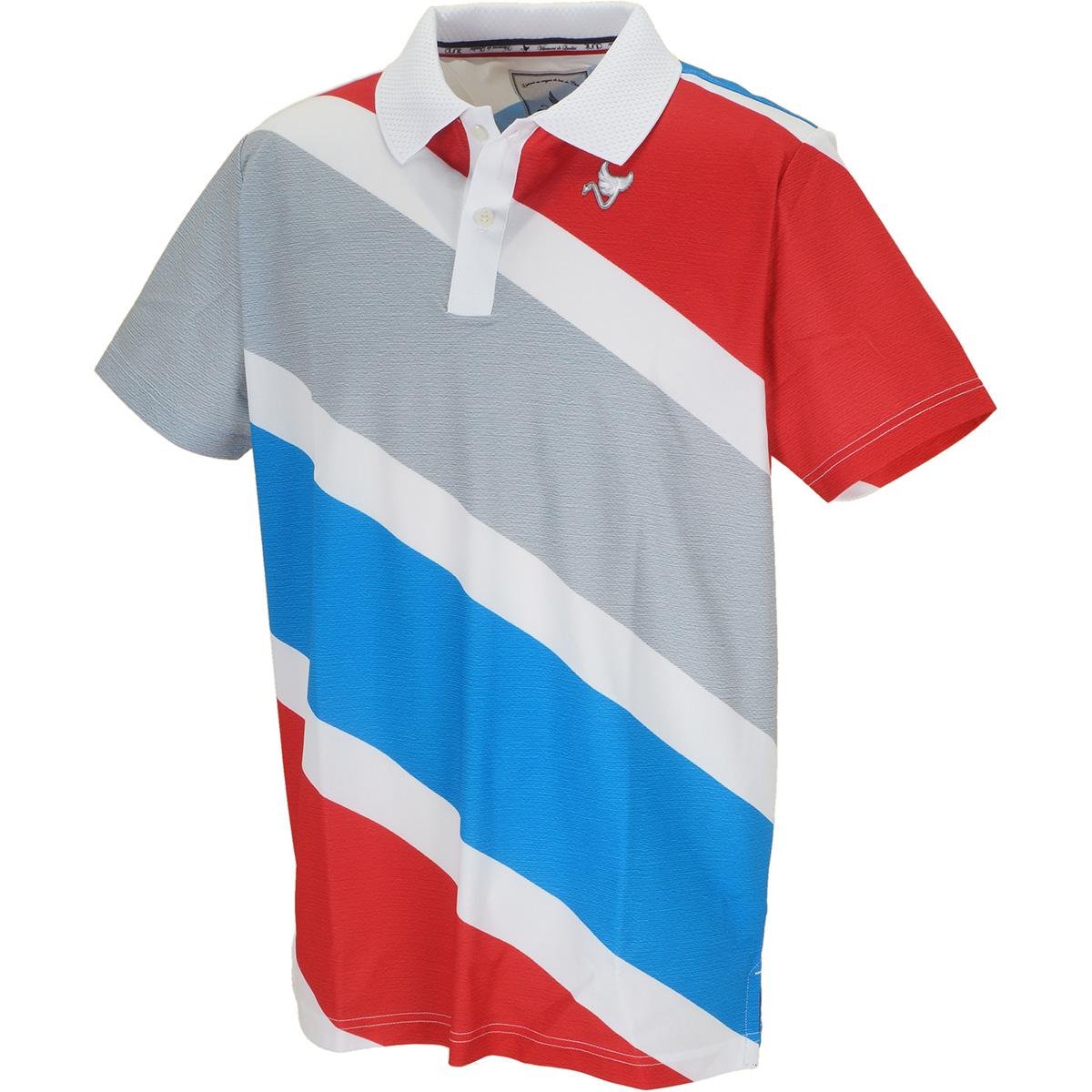 ストレッチ トリコロール 半袖ポロシャツ
