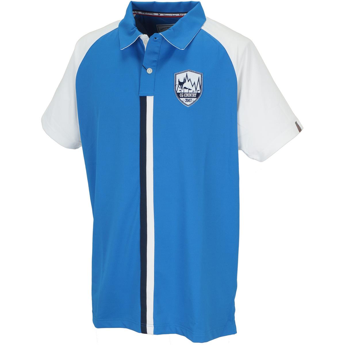 ストレッチ ラグランスリーブ 半袖ポロシャツ