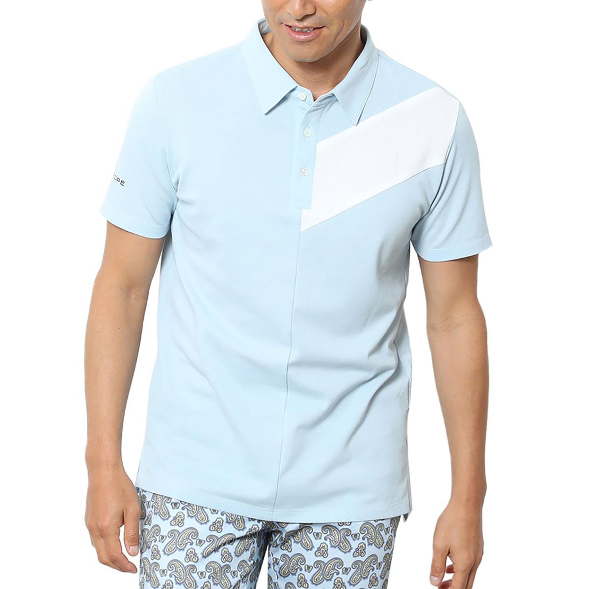 カラーブロック半袖ポロシャツ