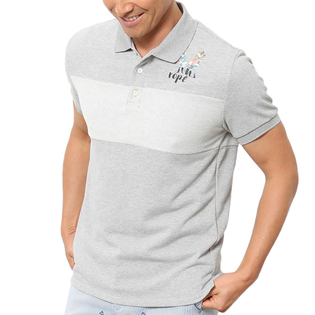 コットンライク裏毛半袖ポロシャツ