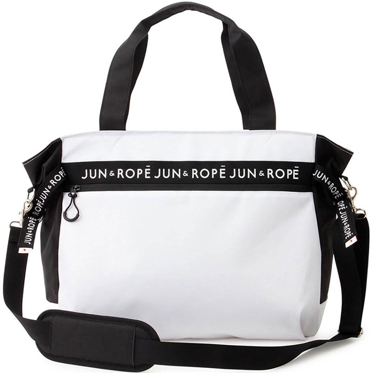 ジュン アンド ロペ JUN & ROPE ロゴ配色BIGトートバッグ ホワイト 10 レディス