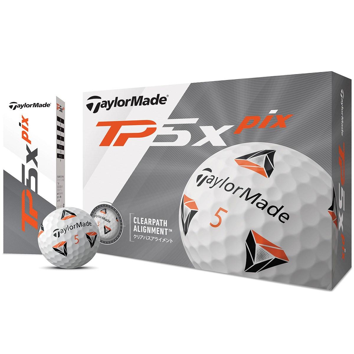 テーラーメイド TP TP5x pix ボール 1ダース(12個入り) ホワイト