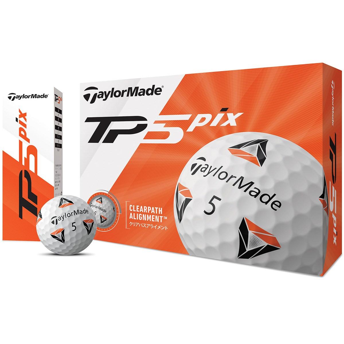 テーラーメイド TP TP5 pix ボール 1ダース(12個入り) ホワイト
