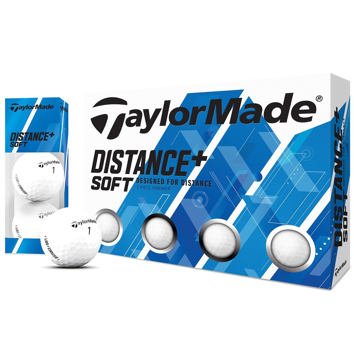 テーラーメイド DISTANCE+ Distance+Soft ボール 1ダース(12個入り) ホワイト