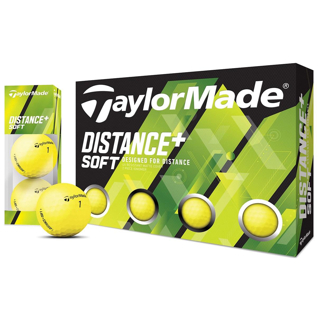テーラーメイド DISTANCE+ Distance+Soft ボール 1ダース(12個入り) マットイエロー