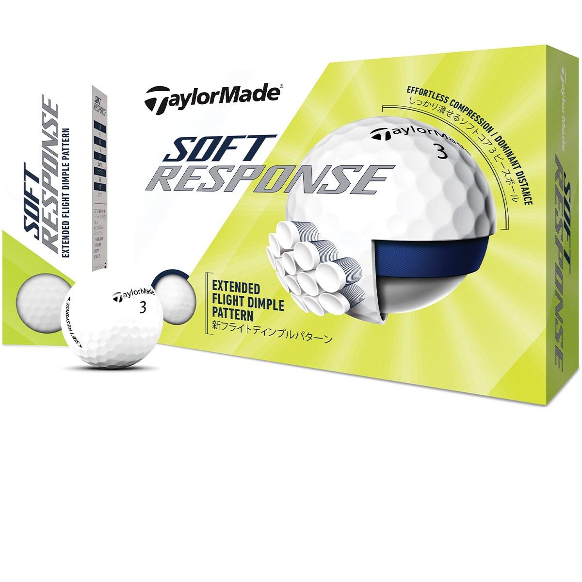 テーラーメイド TOUR RESPONSE SOFT RESPONSE ボール 3ダースセット 3ダース(36個入り) ホワイト