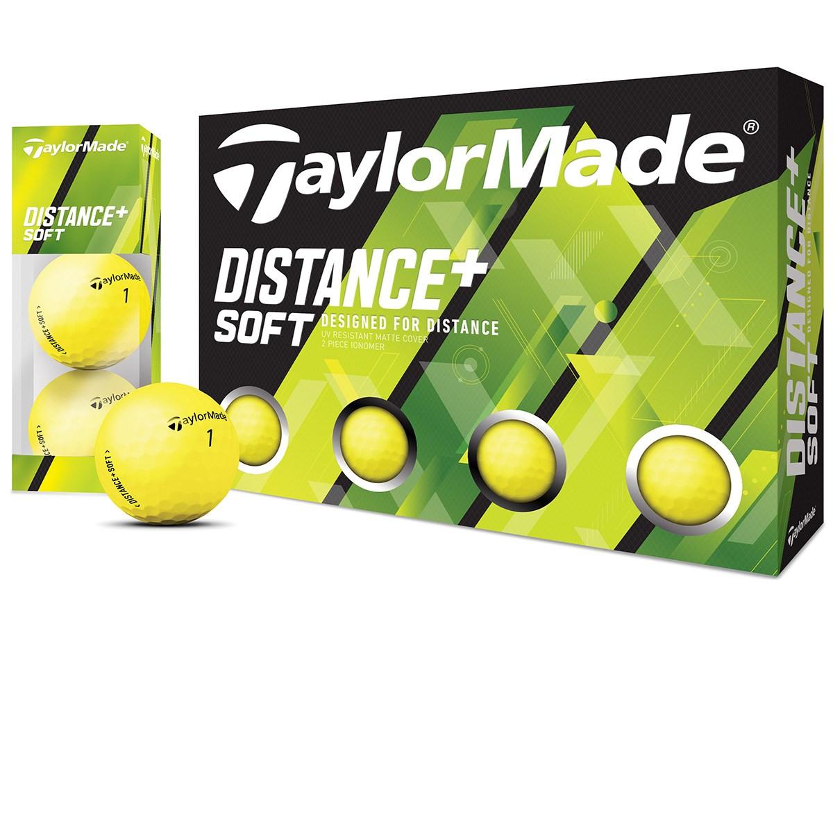テーラーメイド DISTANCE+ Distance+Soft ボール 3ダースセット 3ダース(36個入り) マットイエロー