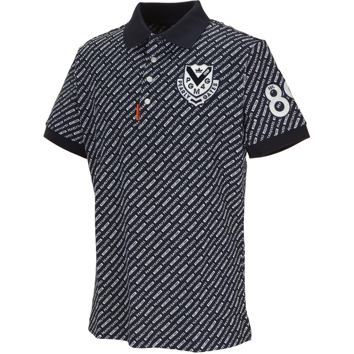 鹿の子ロゴ柄 半袖ポロシャツ