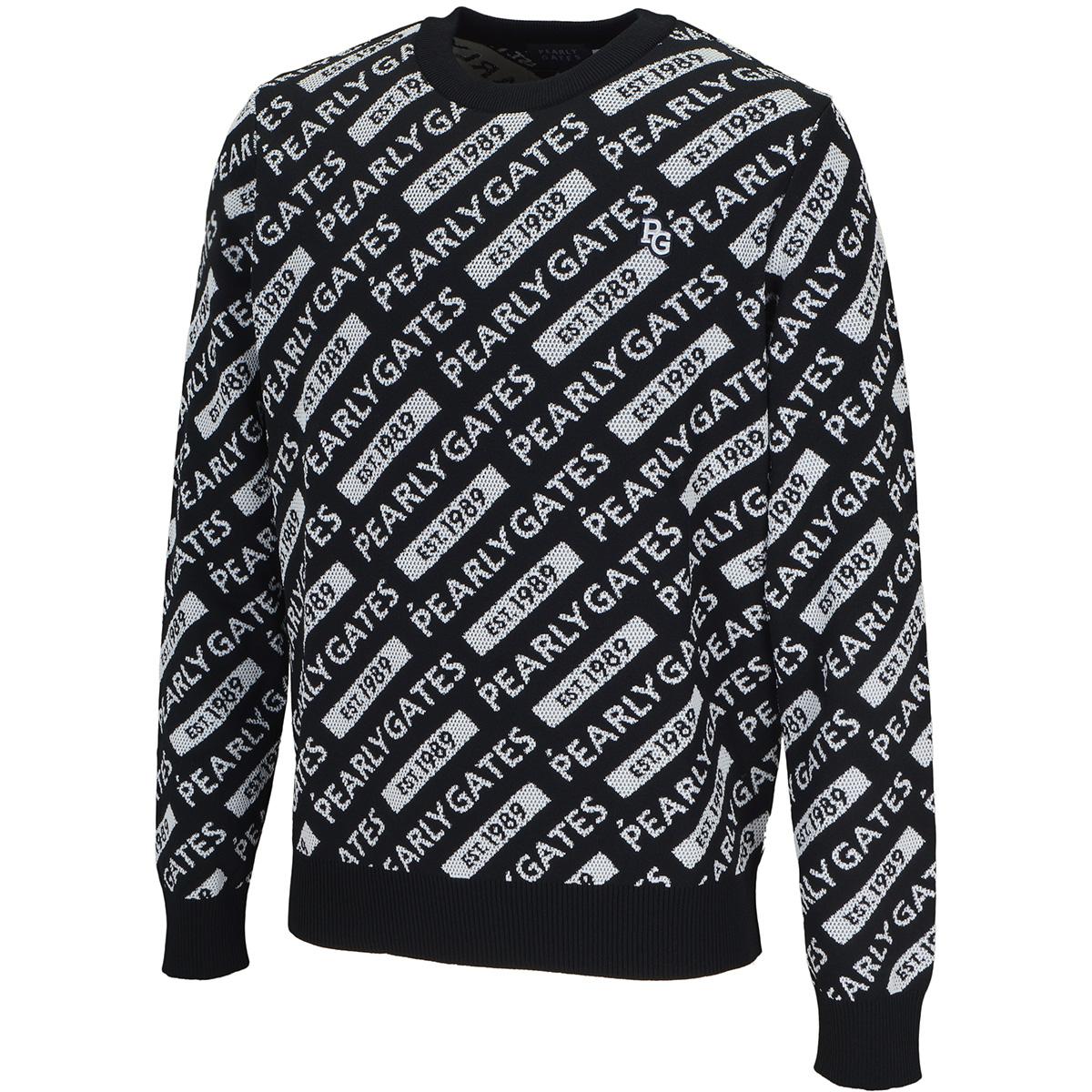 ロゴダブルジャカードセーター