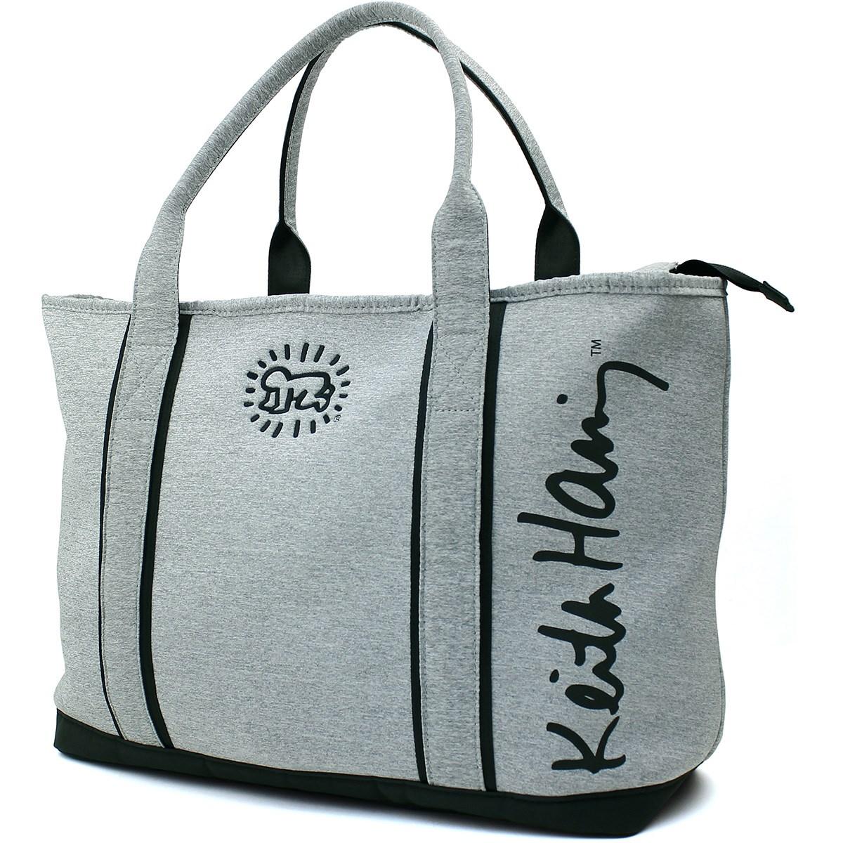 キース・ヘリング Keith Haring トートバッグ ライトグレー