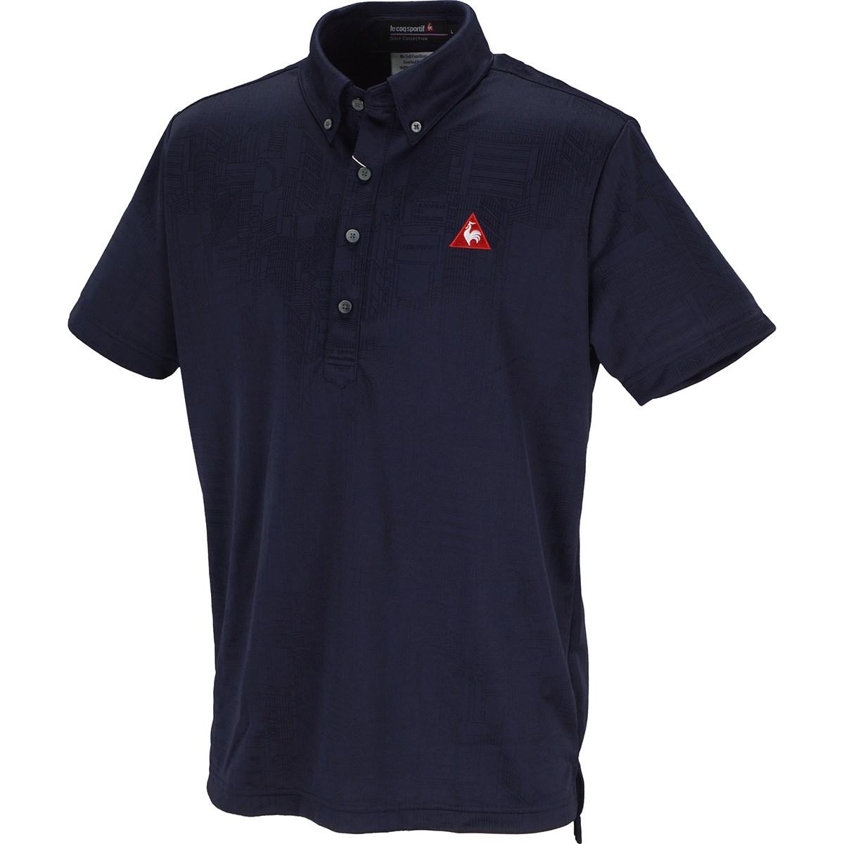 ルコックゴルフ Le coq sportif GOLF シティハイゲージジャガード 半袖ポロシャツ M ネイビー 00