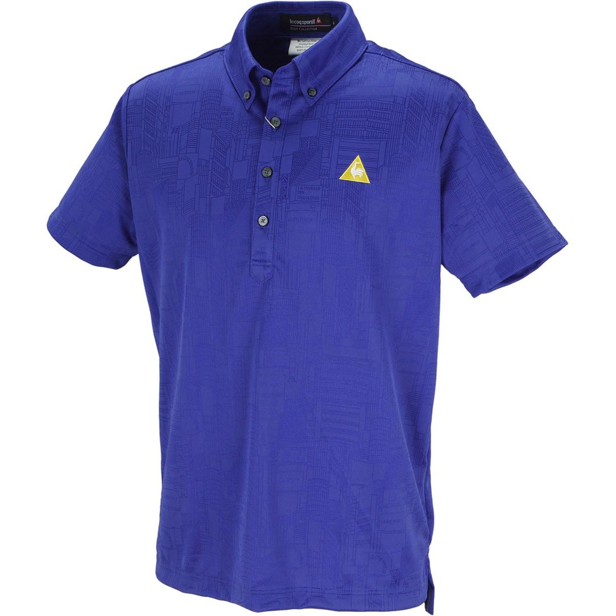 ルコックゴルフ Le coq sportif GOLF シティハイゲージジャガード 半袖ポロシャツ M ブルー 00