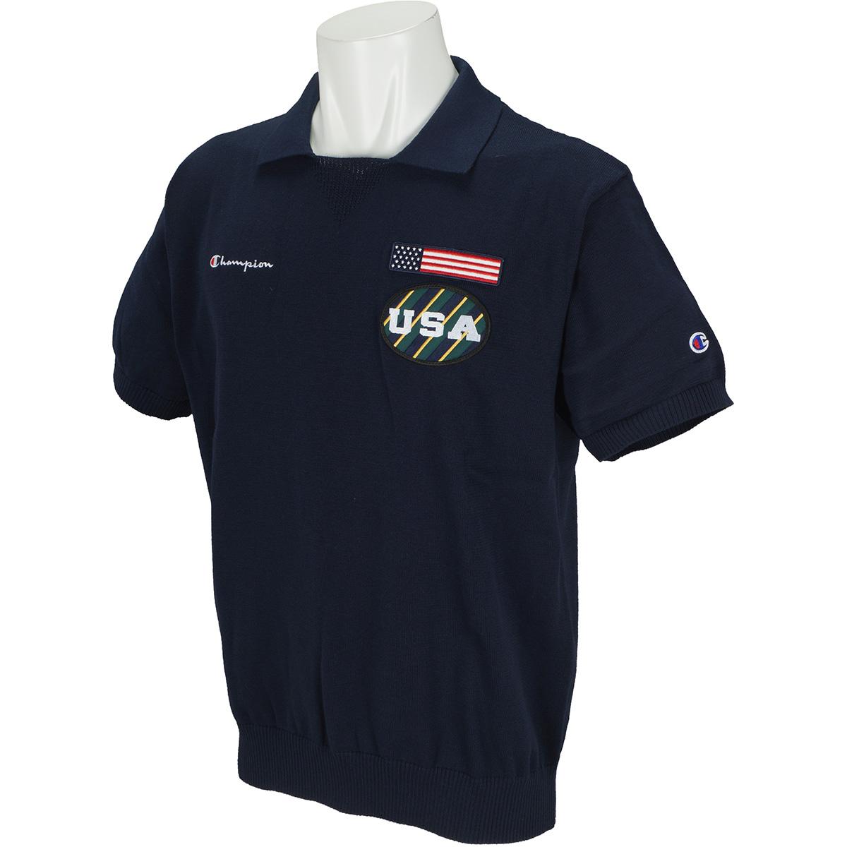 USA 半袖ニットポロシャツ