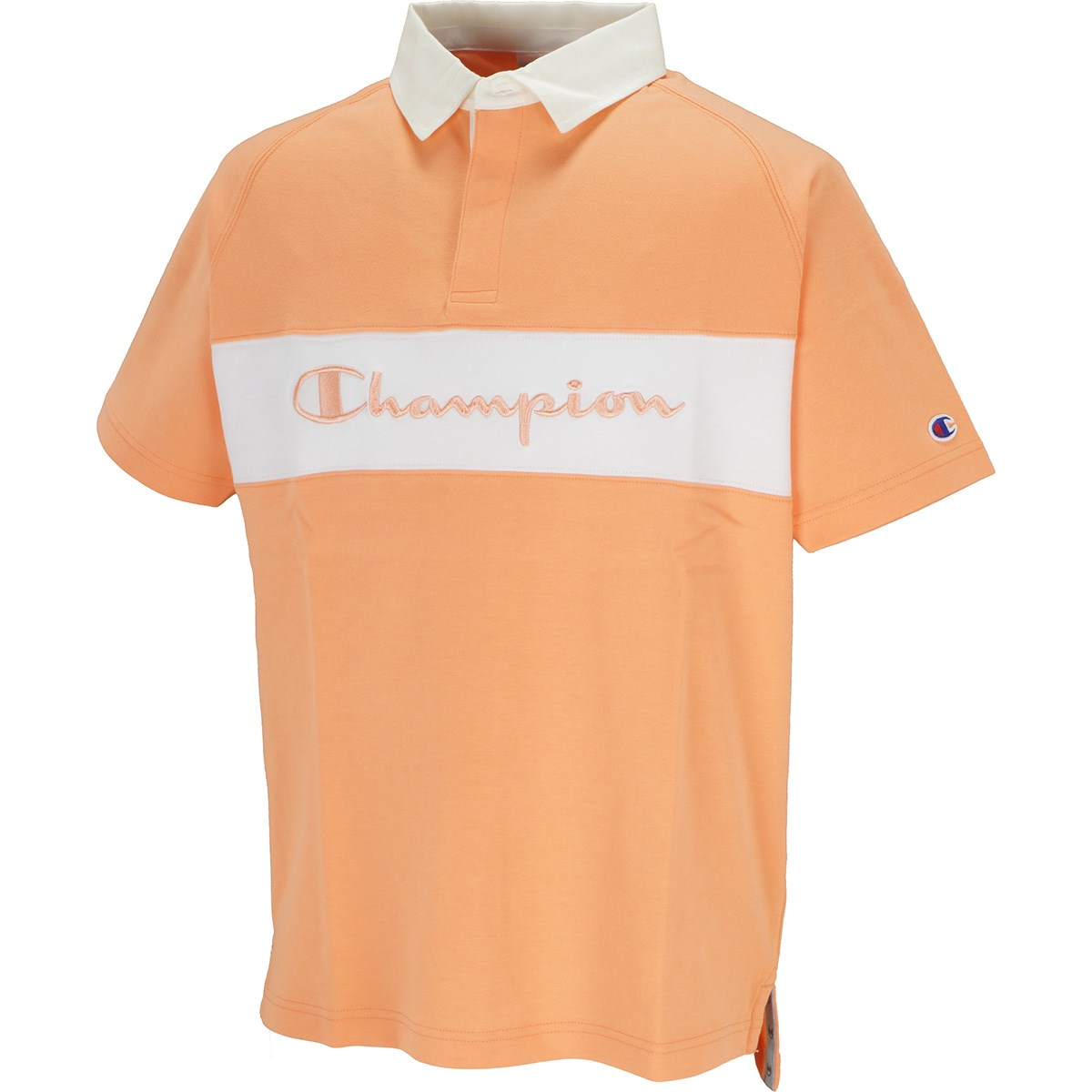 チャンピオンゴルフ Champion GOLF ポンチ 半袖ポロシャツ M オレンジ 840