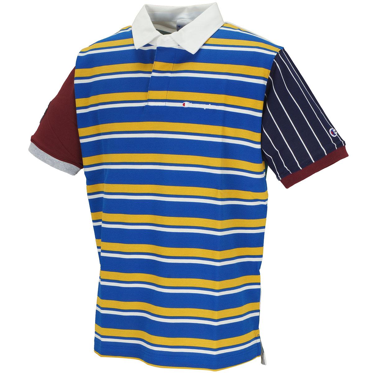アシンメトリー 半袖ポロシャツ