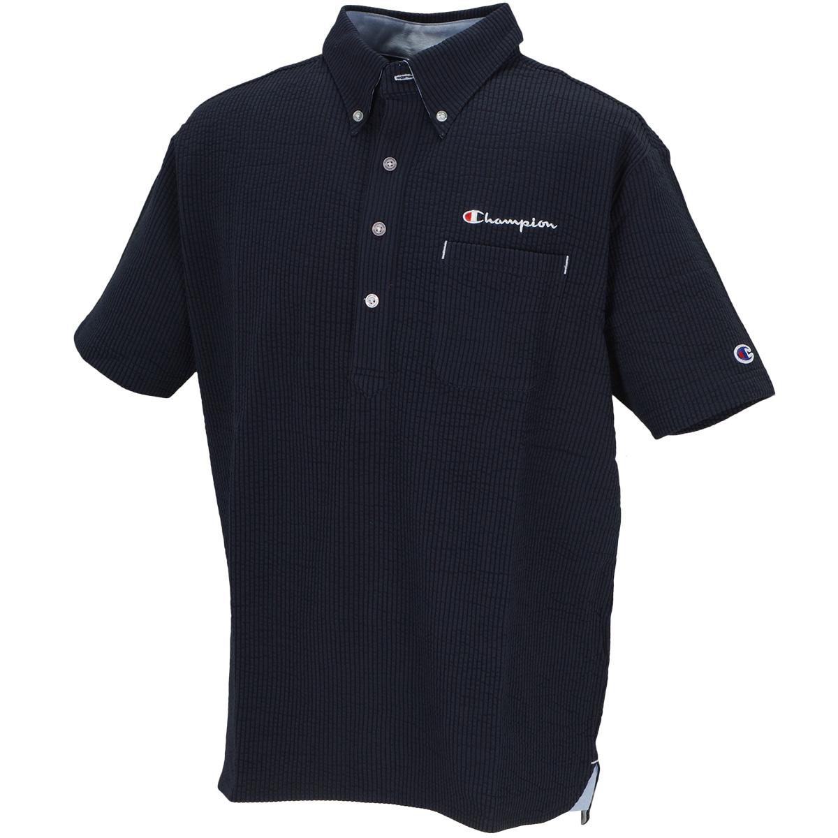 ストレッチ シアサッカー 半袖ポロシャツ