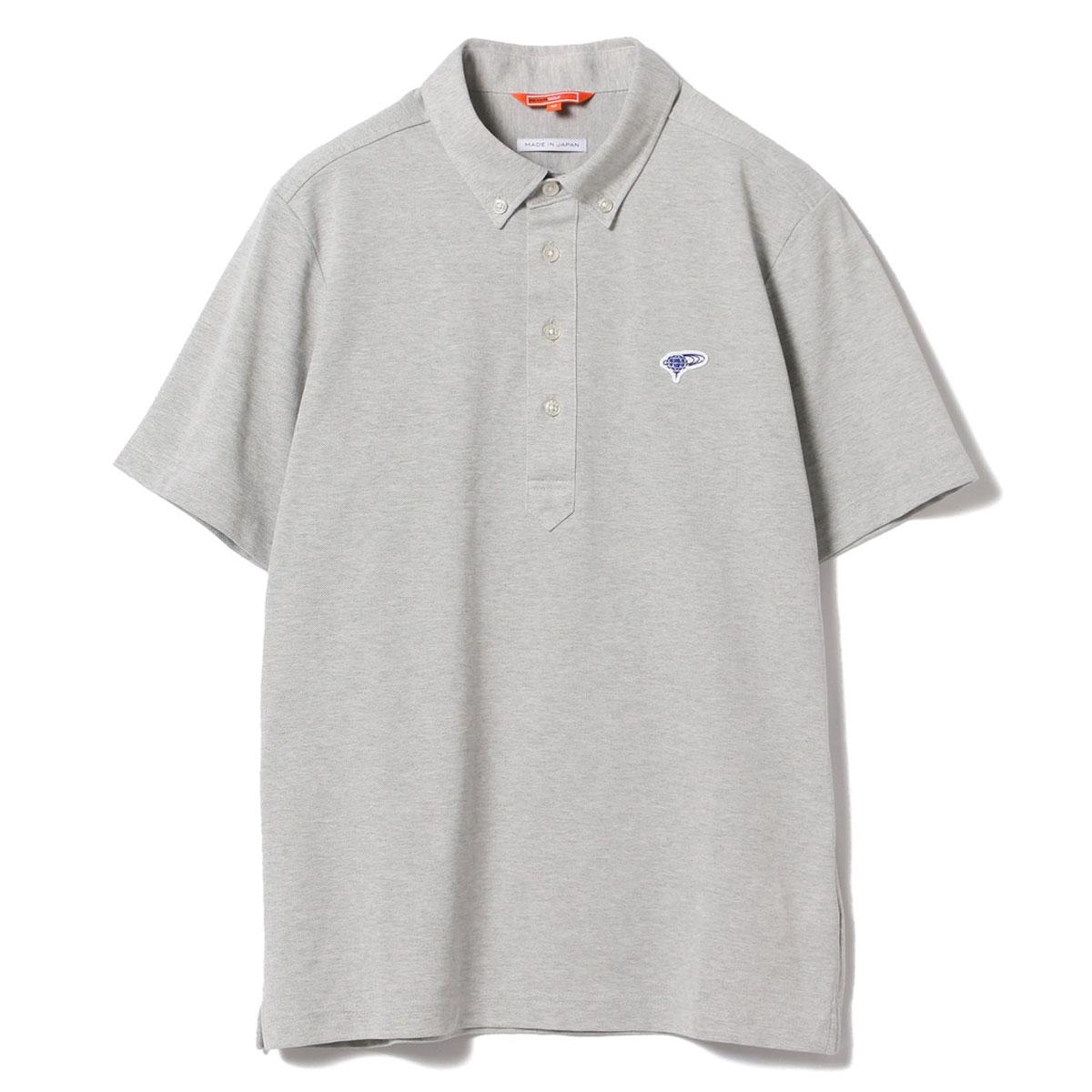 BEAMS GOLF ORANGE LABEL クールマックス ボタンダウン ポロシャツ