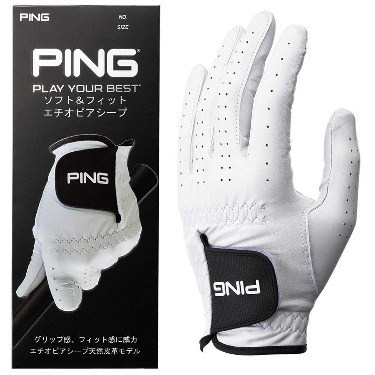 ピン PING 天然皮革グローブ 22cm 左手着用(右利き用) ホワイト