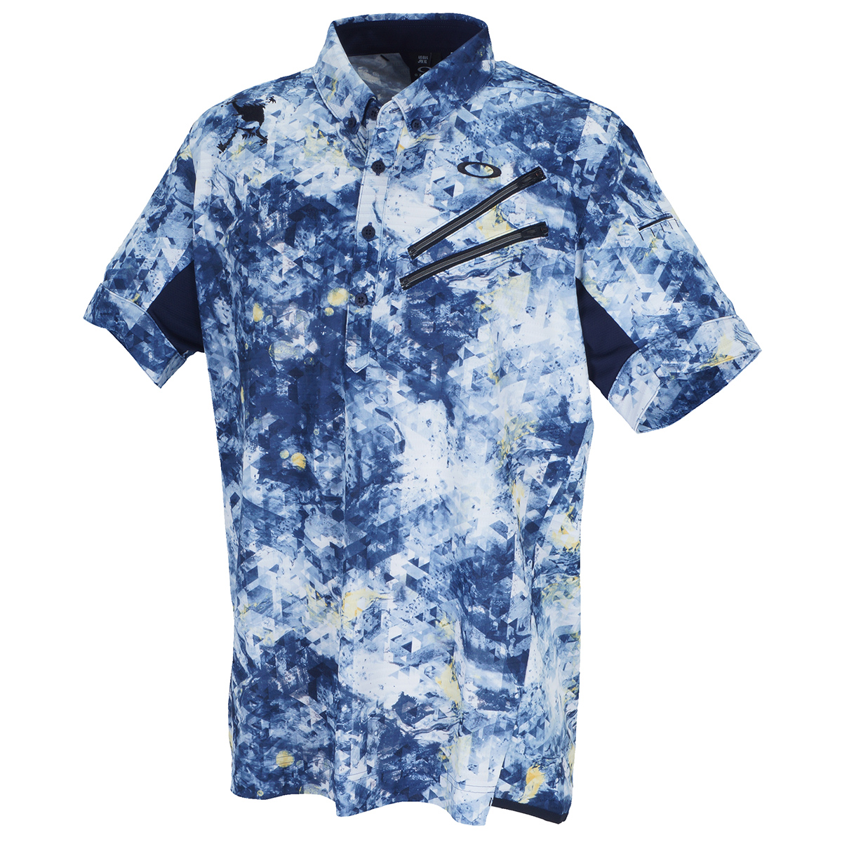 スカル Aberration 半袖ポロシャツ